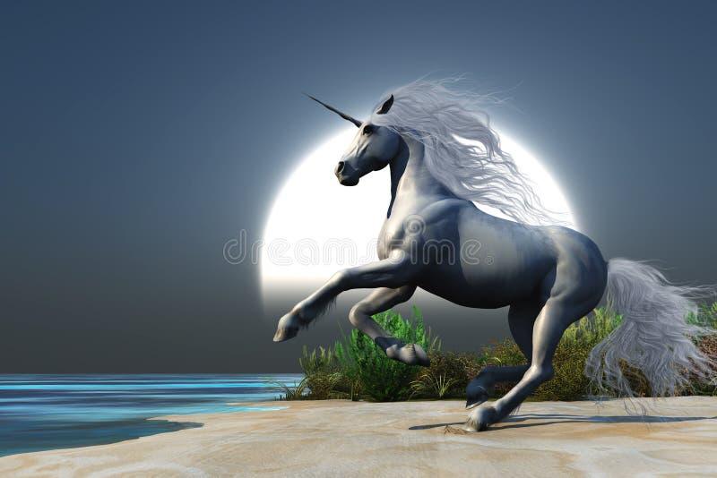 midnight unicorn royaltyfri illustrationer