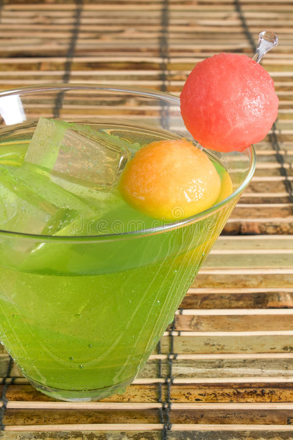 Download Midori Cocktail stock image. Image of alcohol, fruit, cubes - 9785455