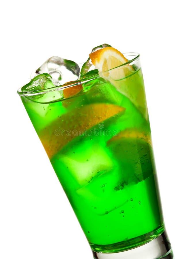 Download Midori Fizz stock photo. Image of beverage, cube, lemon - 16354768
