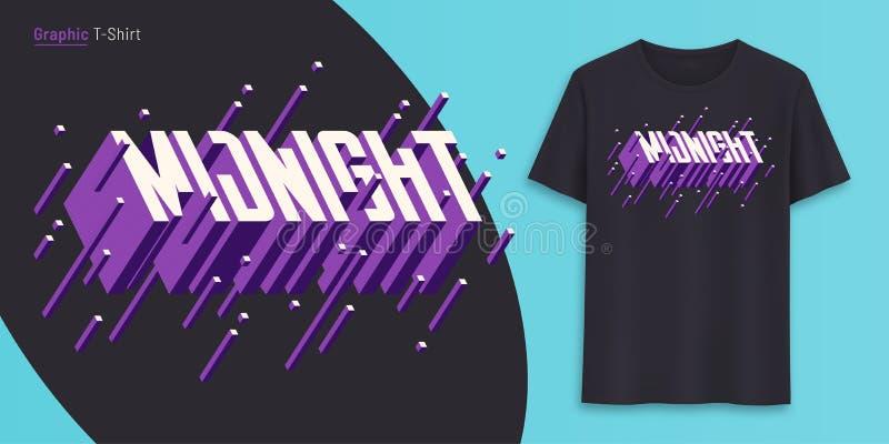 midpoint Graficzny koszulka projekt, typografia, druk z 3d projektował tekst royalty ilustracja