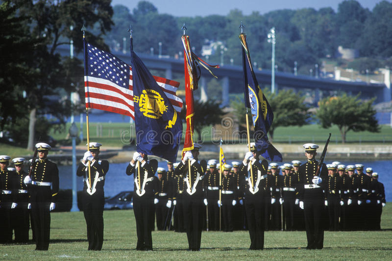 Midshipmen, United States Naval Academy, Annapolis, Maryland stock photos