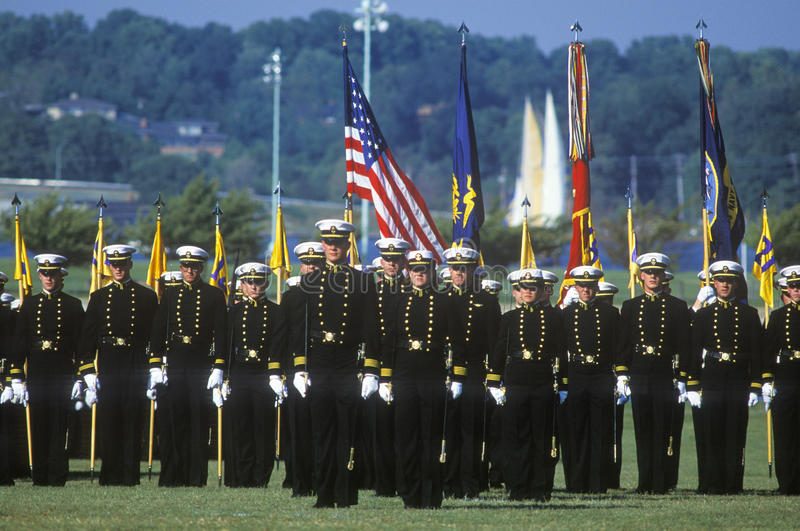Midshipmen, United States Naval Academy, Annapolis, Maryland royalty free stock photo