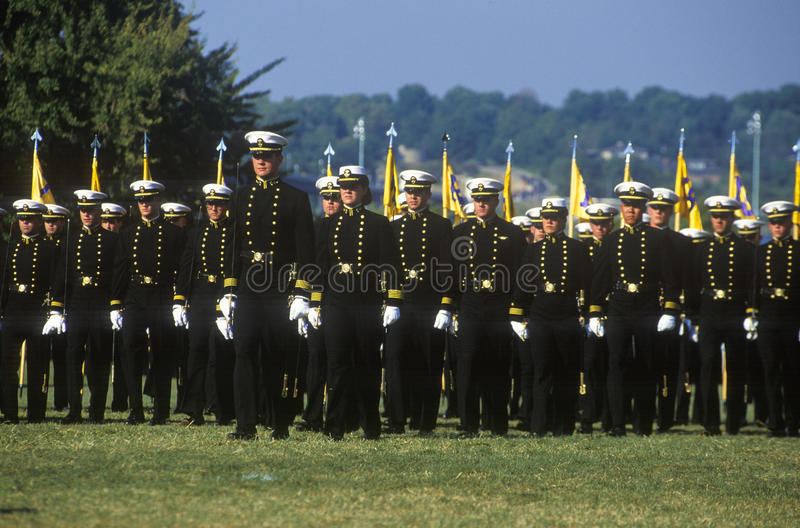 Midshipmen, United States Naval Academy, Annapolis, Maryland stock photography