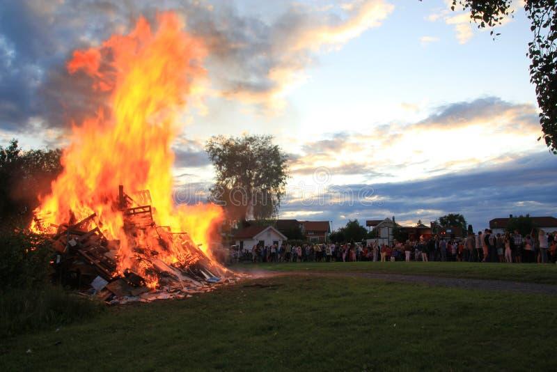 Download Midsummer bonfire. stock image. Image of summer, party - 21653503