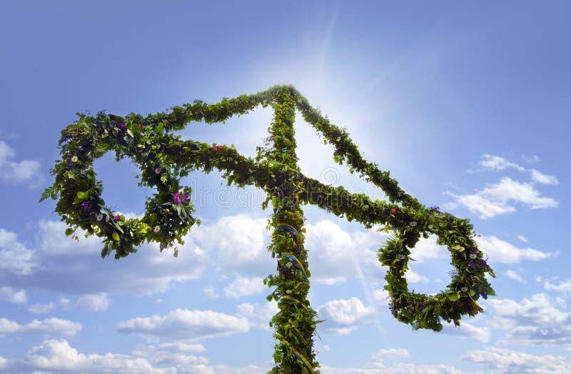 Midsummer celebrations. Photo of Midsummer celebrations in Sweden stock photo
