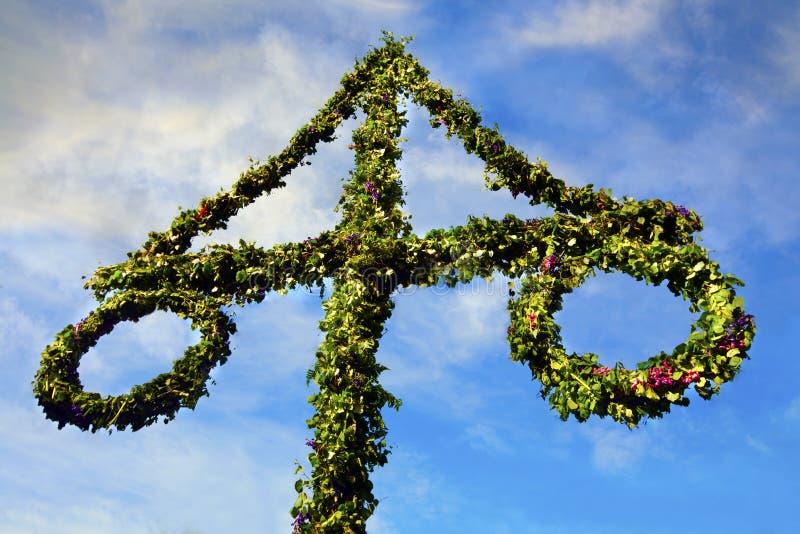 Midsummer celebrations. Photo of a Midsummer celebrations in Sweden stock photography