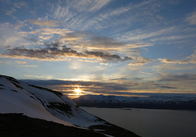 Midsummer Day. In Kiruna National Park stock image