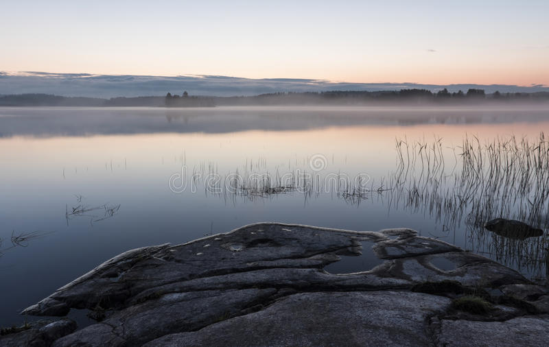 Midsummer night in Finland royalty free stock photography