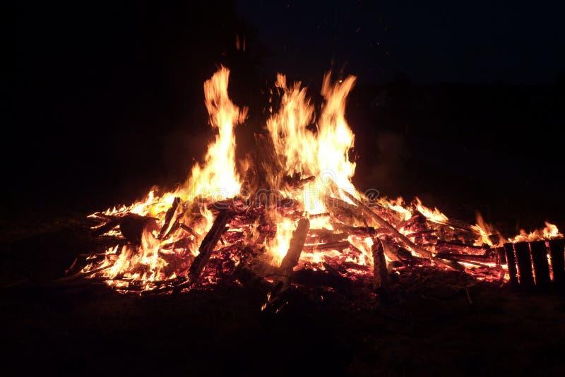 Midsummernight fire. Big fire,fire of witch,midsummernight fire stock photos