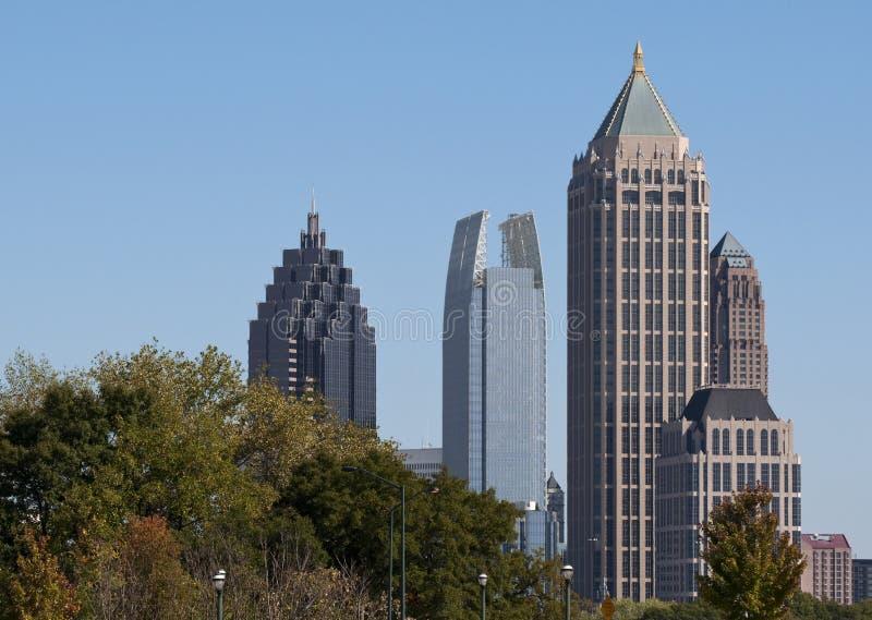 Midtown Atlanta. A view of the skyline of midtown Atlanta, Georgia royalty free stock photo