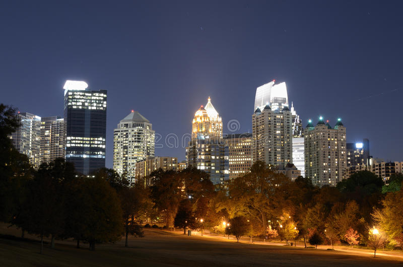 Midtown Atlanta Cityscape stock photo