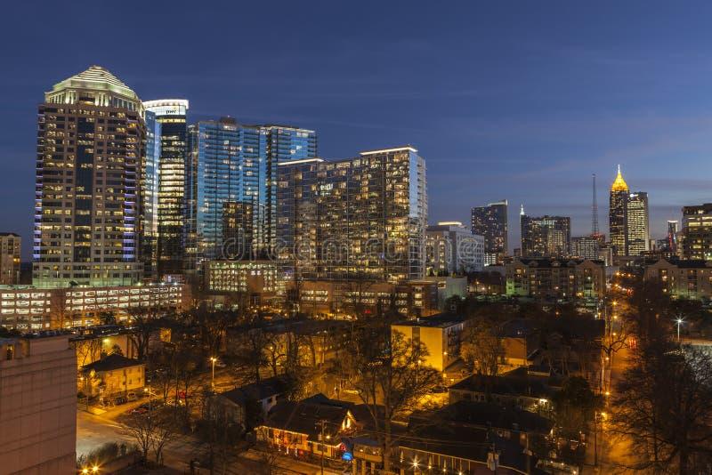 Midtown Atlanta Dusk stock images