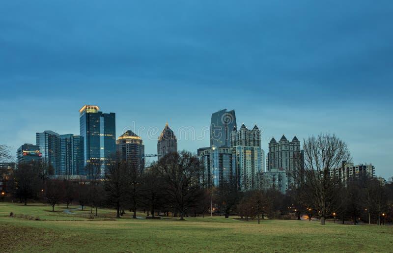 Midtown Atlanta prima dell'alba fotografia stock