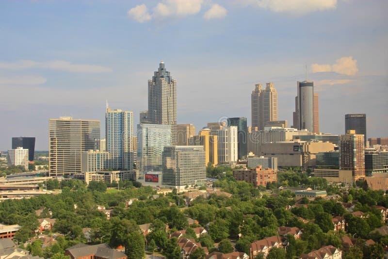 Midtown d'horizon d'Atlanta, Etats-Unis photos stock