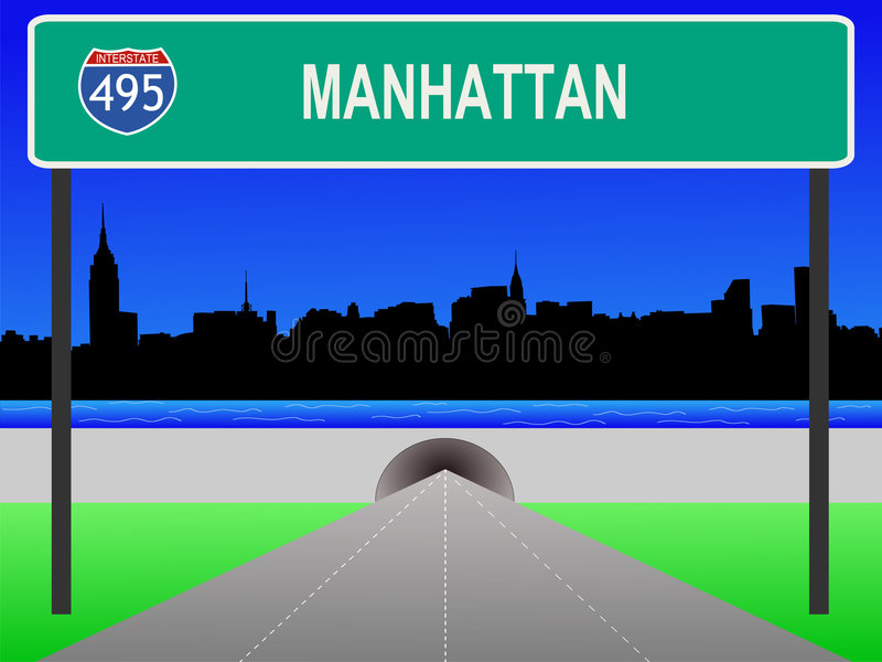 Midtown Manhattan illustration de vecteur