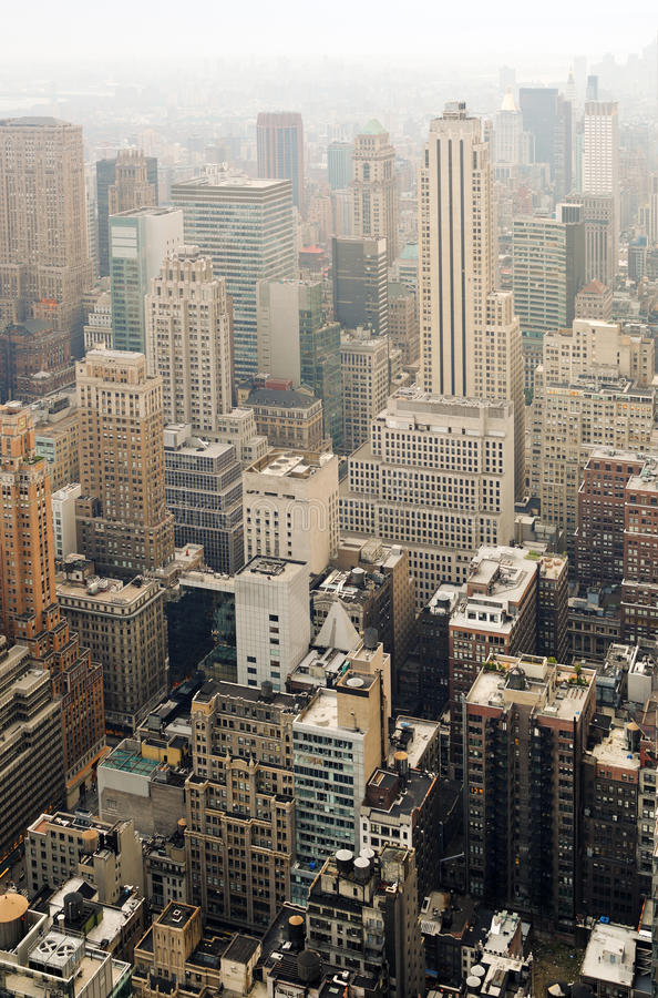 Download Midtown Manhattan stock image. Image of buildings, rooftops - 26821765