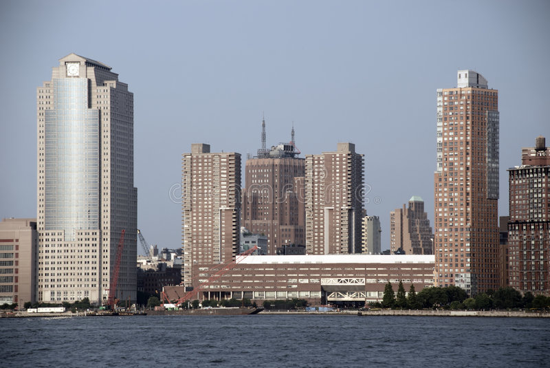 Midtown Manhattan. View on Manhattan midtown from across Hudson river - Jersey City, New Jersey stock images