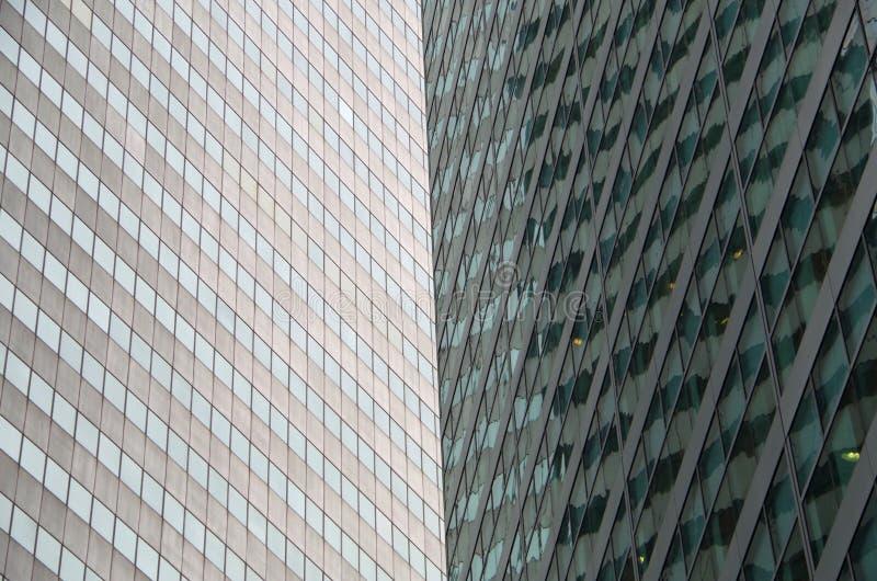 Midtown Manhattan architectural background. Midtown Manhattan NYC intersecting high-rise buildings architectural background stock images