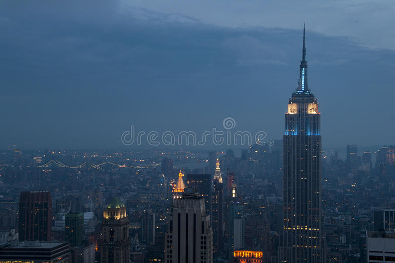 Midtown Manhattan night view. Night view of midtown Manhattan, NYC royalty free stock photo