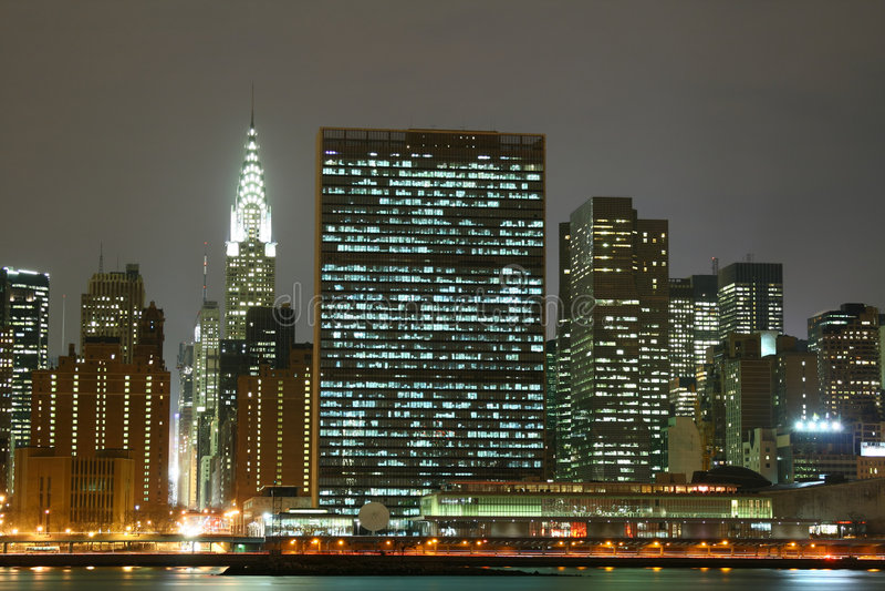Download Midtown Manhattan Skyline At Night Lights, NYC Stock Image - Image: 1967961