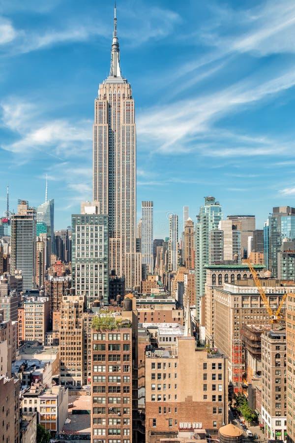 Midtown Manhattan Skyline w Nowym Jorku fotografia stock