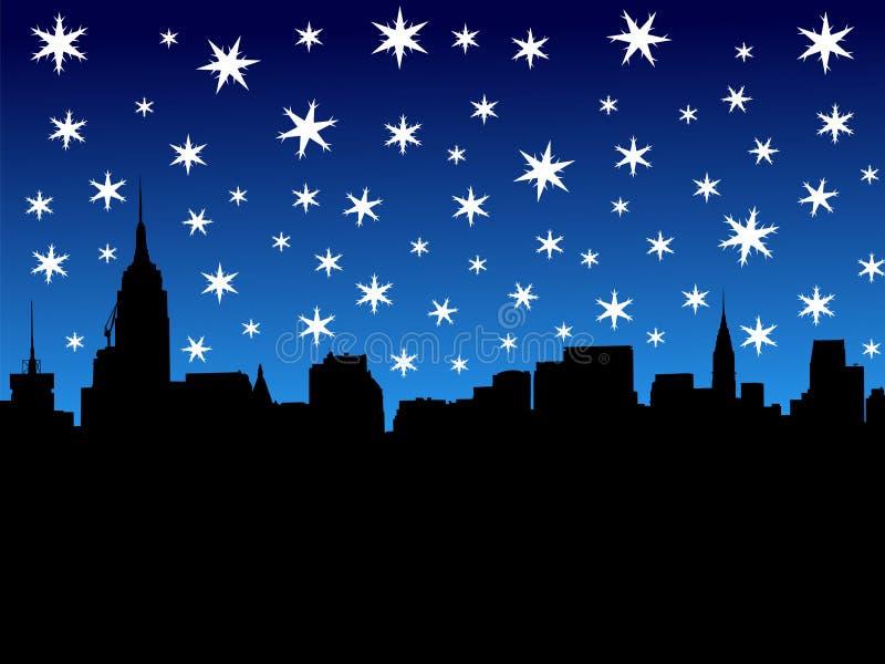 Download Midtown Manhattan In Winter Stock Illustration - Image: 3762274