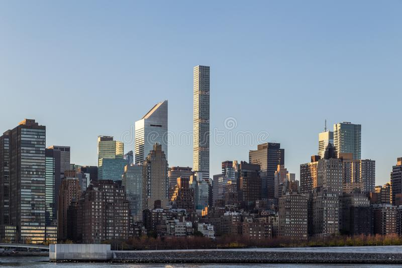 Midtown Manhattan Wolkenkratzer stockfotos