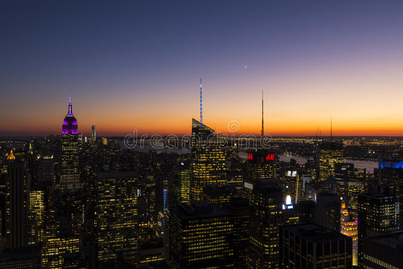 Midtown Manhattan y Empire State Building fotos de archivo libres de regalías