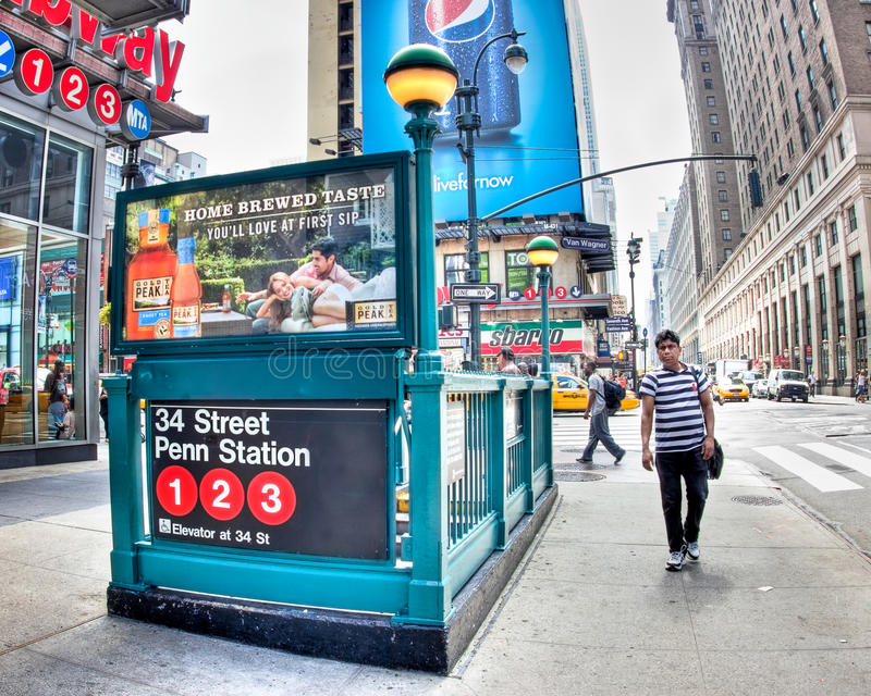 Midtown-Untergrundbahn NYC lizenzfreie stockbilder