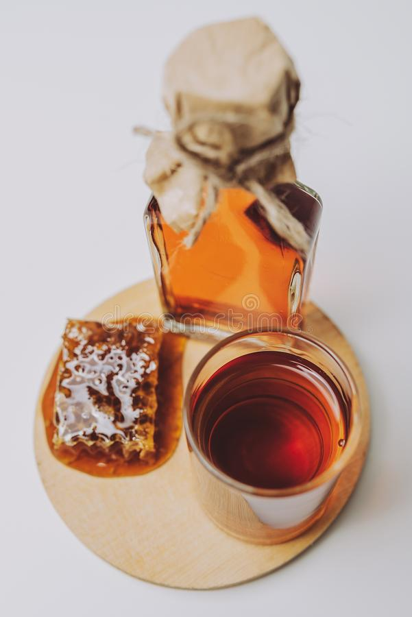 Lithuanian mead. Midus is a type of Lithuanian mead, an alcoholic beverage made of grain, honey and water. Balts were making mead for thousands of years royalty free stock photos