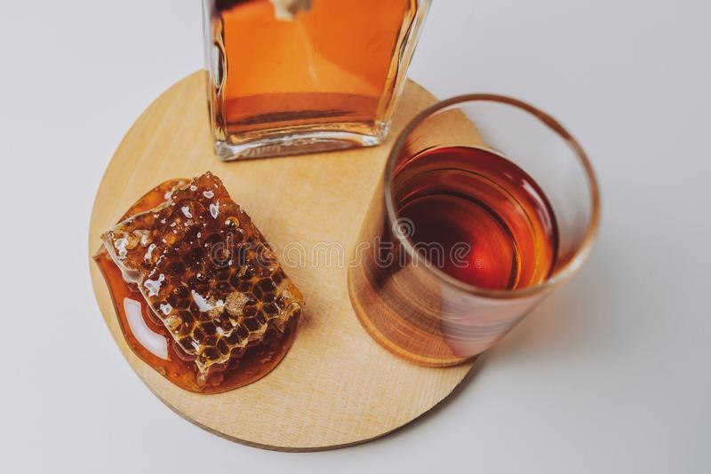 Midus is a type of Lithuanian mead, an alcoholic beverage made of grain, honey and water. Balts were making mead for thousands of. Years stock photography