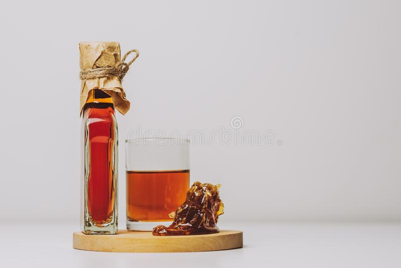 Midus is a type of Lithuanian mead, an alcoholic beverage made of grain, honey and water. Balts were making mead for thousands of. Years stock images