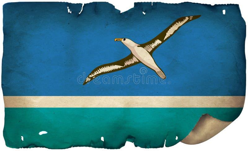Midway Atoll Atoll Flag auf altem Papier lizenzfreie stockbilder