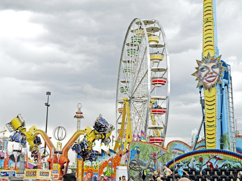 Download Midway rides. editorial stock image. Image of carnival - 10643129