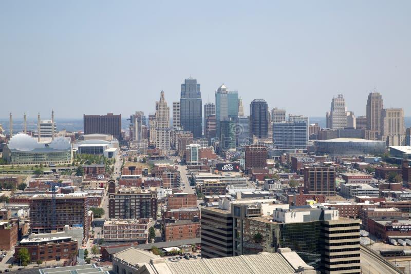 Midwest ΗΠΑ του Κάνσας Μισσούρι πόλεων κρατικό άποψη στοκ φωτογραφίες