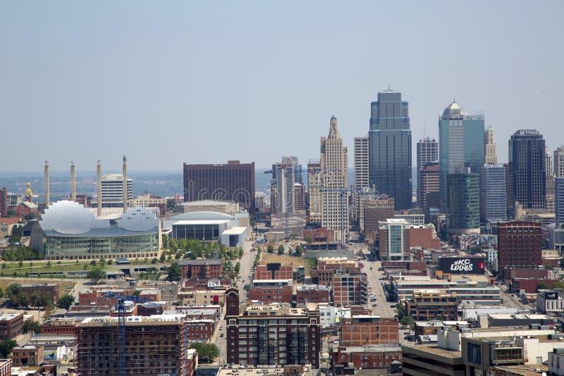 Midwest ΗΠΑ του Κάνσας Μισσούρι πόλεων κρατικό άποψη στοκ εικόνες