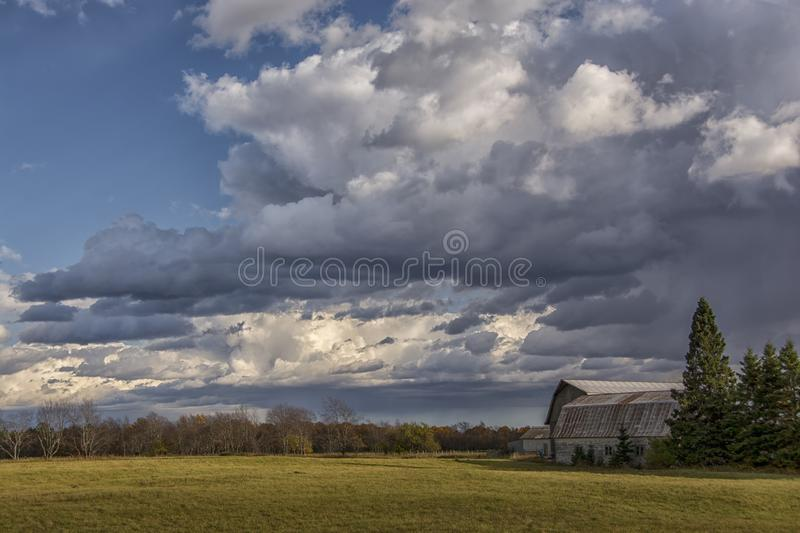 Midwest Autumn Farm royalty free stock photo