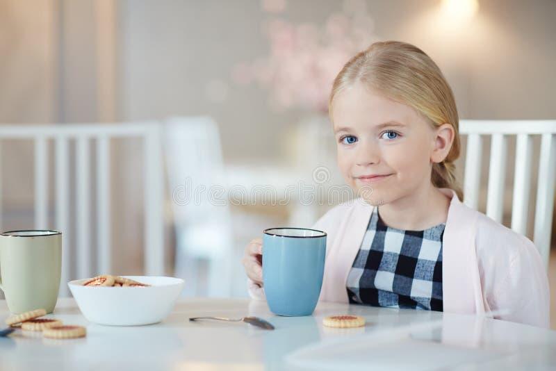 Mieć herbaty z ciastkami zdjęcie royalty free