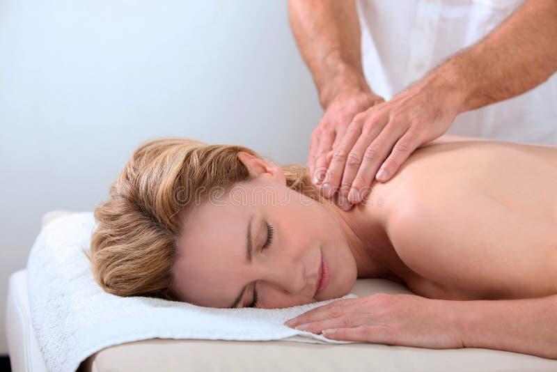 mieć masaż kobiety zdjęcia royalty free
