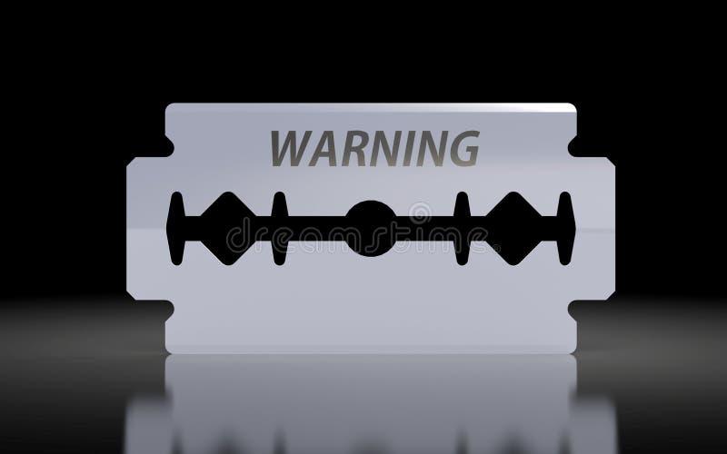 Mieć ostrza z ostrzegawczym tekstem ilustracja wektor