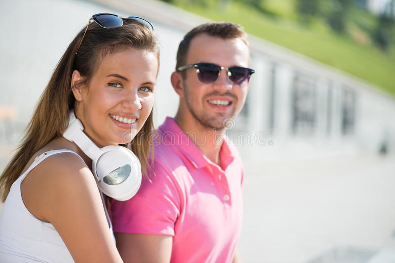 Mieć weekend w lato parku obrazy royalty free