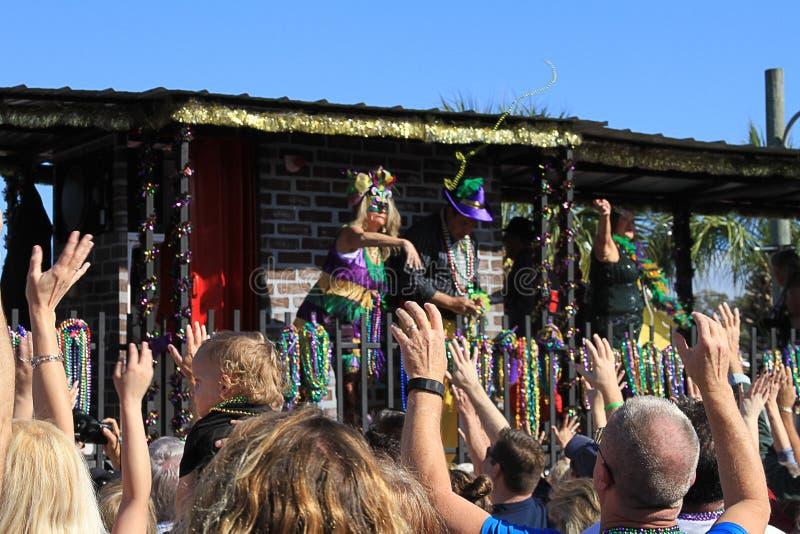Mieć zabawę przy ostatki paradą w St Andrew zdjęcia royalty free