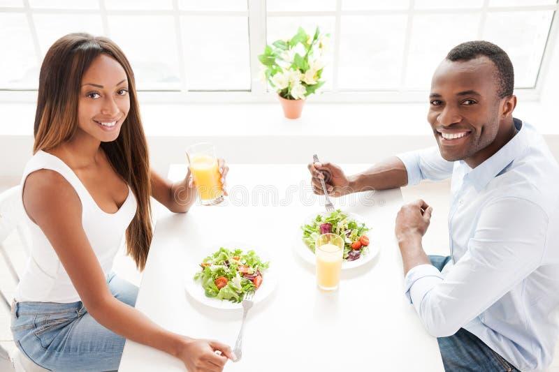 Mieć zdrowego śniadanie. fotografia royalty free