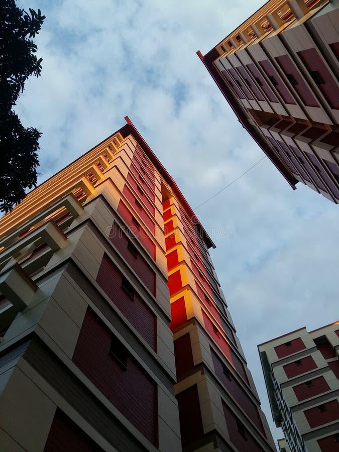 Mieścić bloki w Singapur obraz stock
