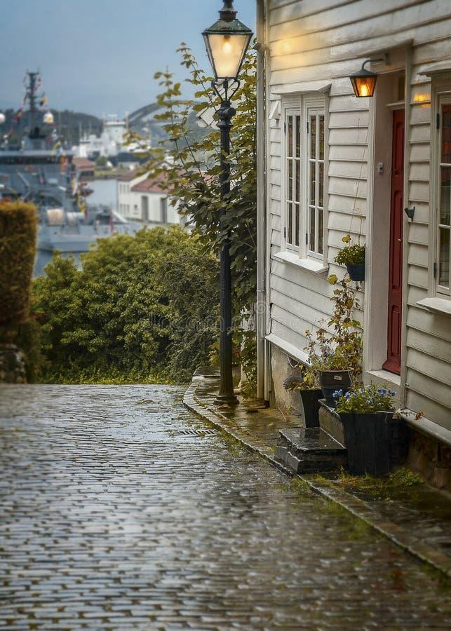 mieści Norway Stavanger Poprzedni budynek mieszkalny fotografia royalty free