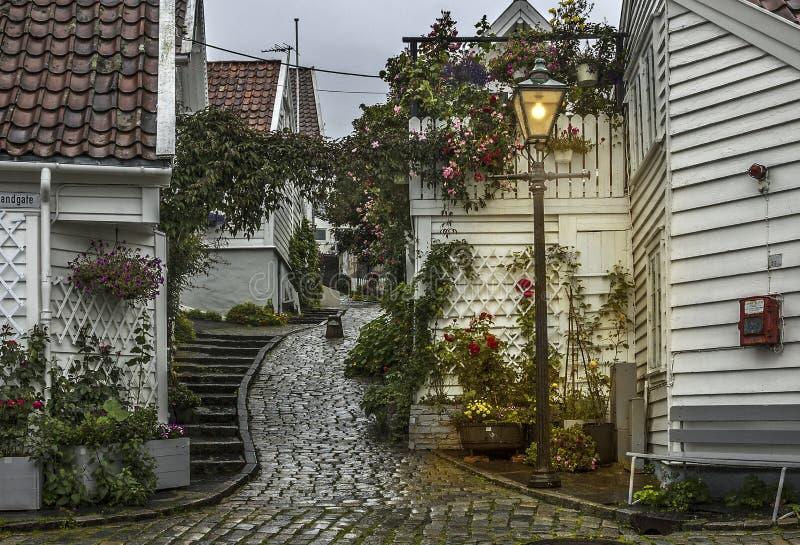 mieści Norway Stavanger Poprzedni budynek mieszkalny obraz stock