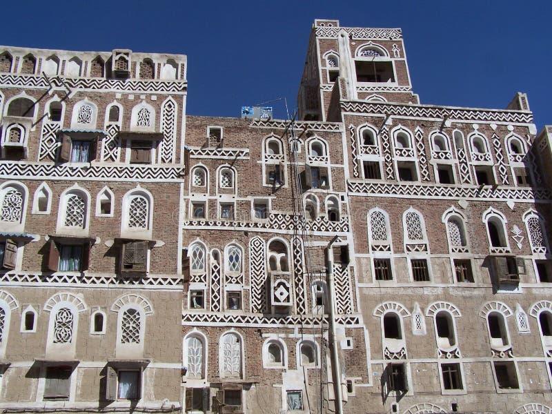 mieści oldtown Sanaa Yemen fotografia royalty free