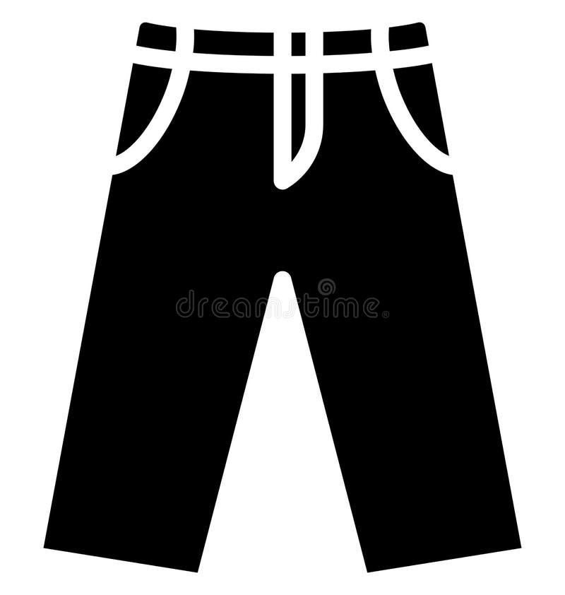 Miechowaty trouser Odizolowywał Wektorową ikonę która może łatwo redagować lub modyfikująca ilustracja wektor