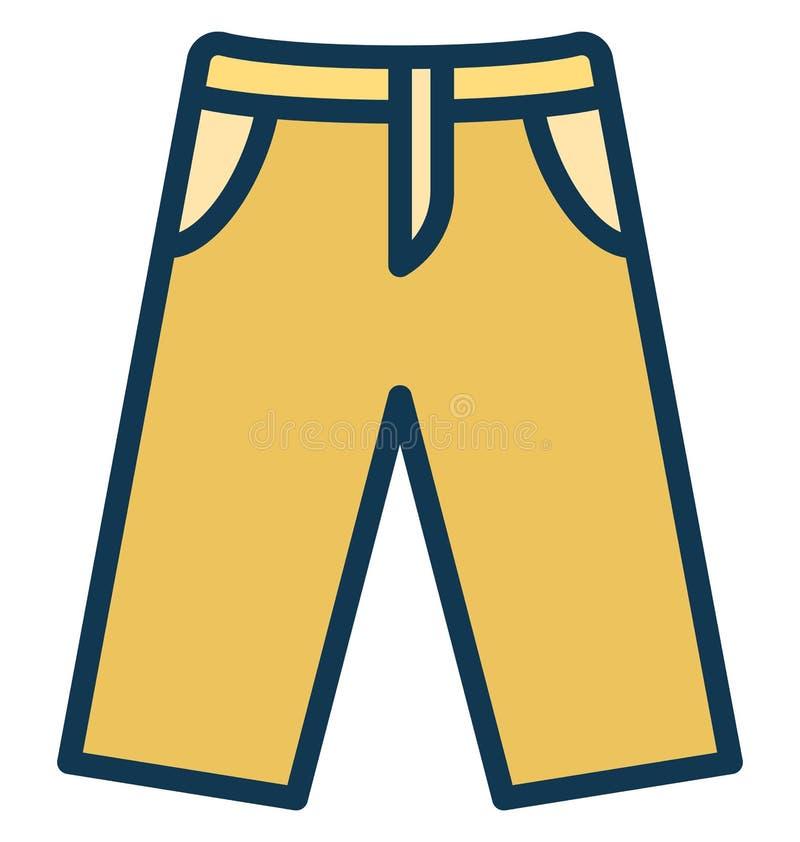 Miechowaty trouser Odizolowywał Wektorową ikonę która może łatwo redagować lub modyfikująca ilustracji