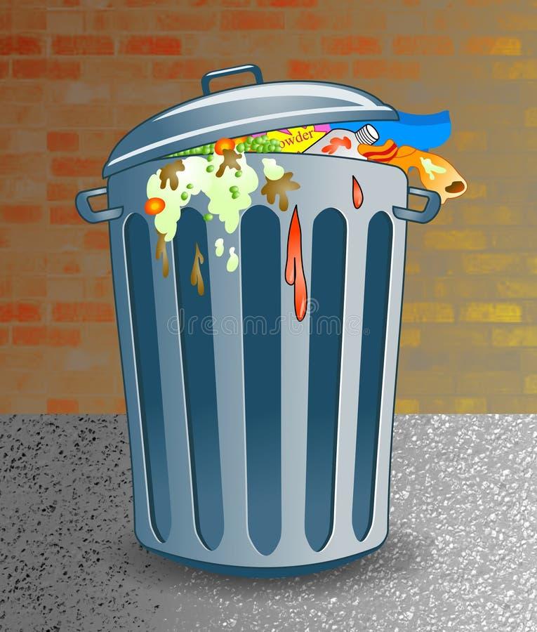 Download śmieci ilustracji. Ilustracja złożonej z trashcan, zbiornik - 43008